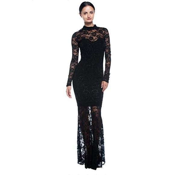 4c4d8e20a52 Symphony dresses goth mermaid lace evening gown poshmark jpg 580x580 Goth evening  gowns